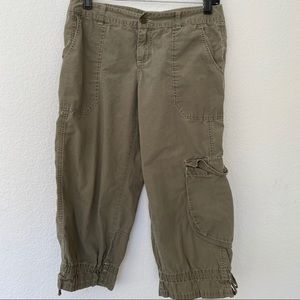 London Jeans Green Chino Capris M